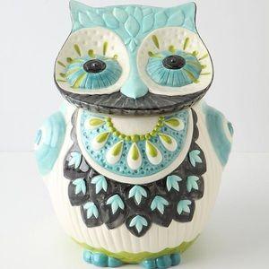 Anthropologie Bubo Owl Cookie Jar